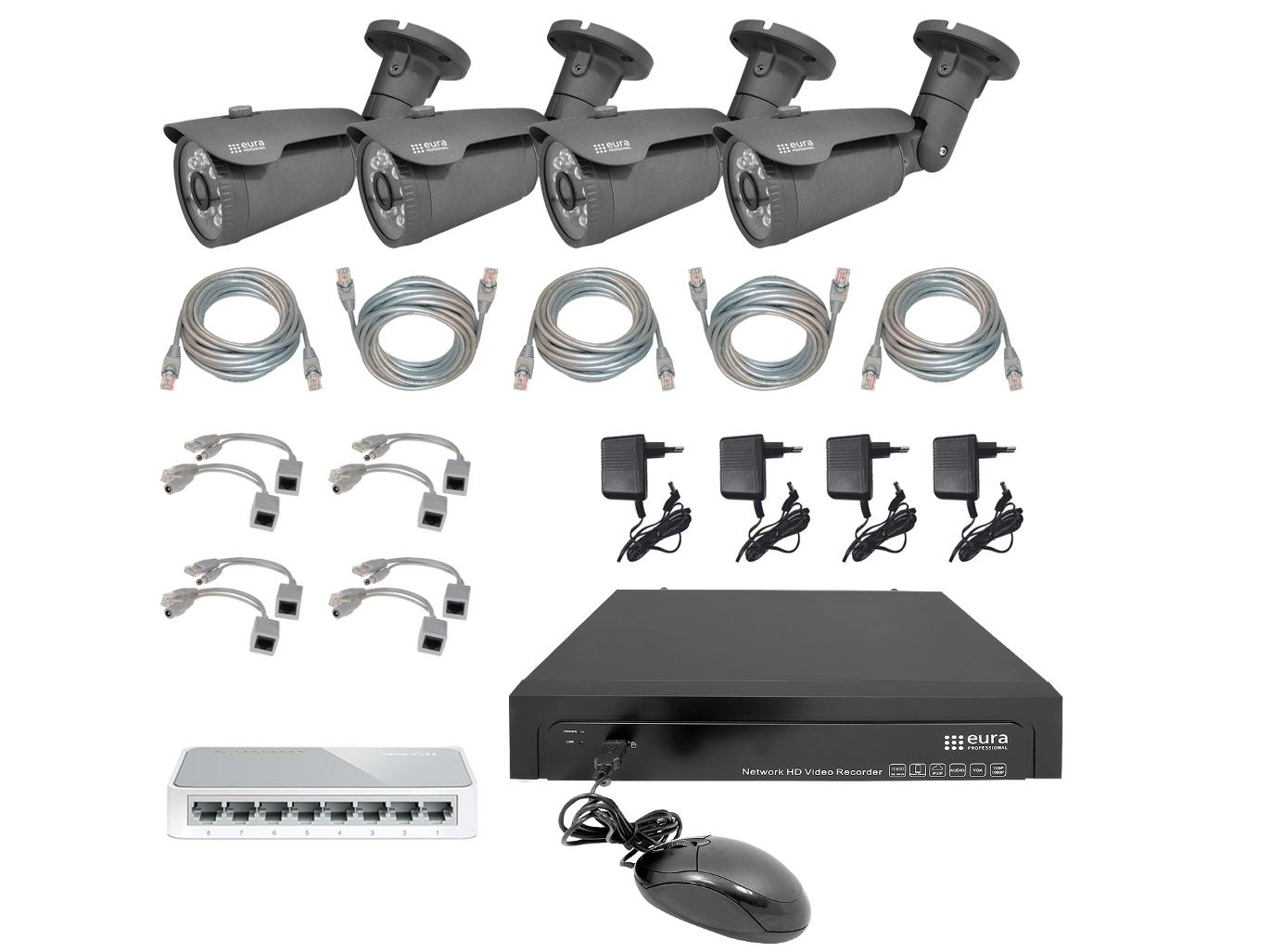 Vaizdo stebėjimo sistemų rinkinys MSP-12C5
