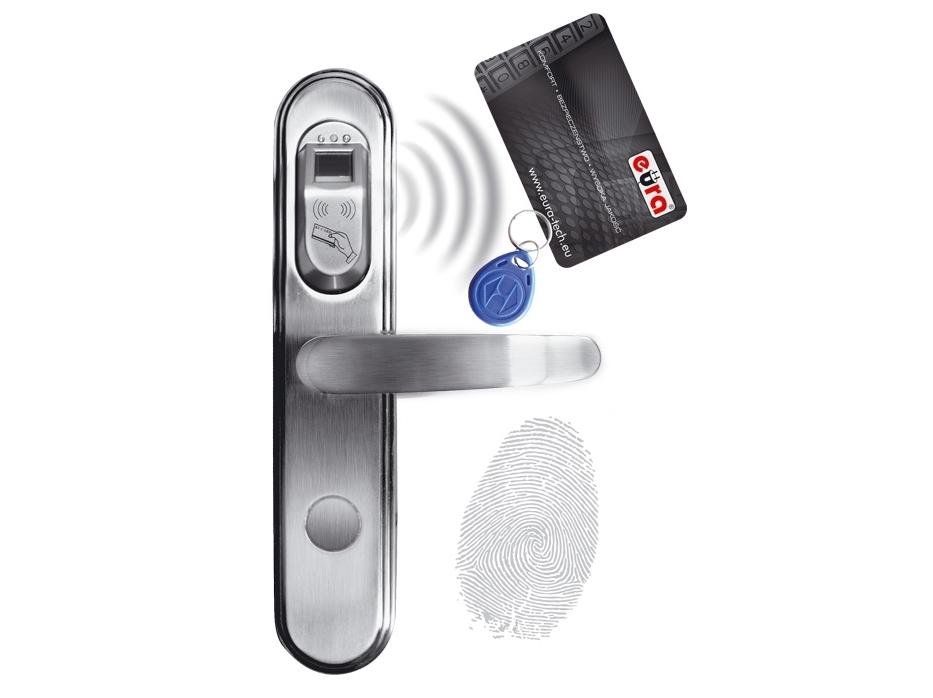 Elektromechaninė durų spyna su RF ID ir piršto antspaudo skaitytuvu ELH-50B9/silver (valdymo dalis)