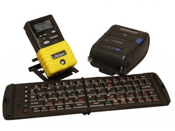 Alkotesteris Lifeloc FC20BT DMS Kit su bevieliu spausdintuvu ir klaviatūra