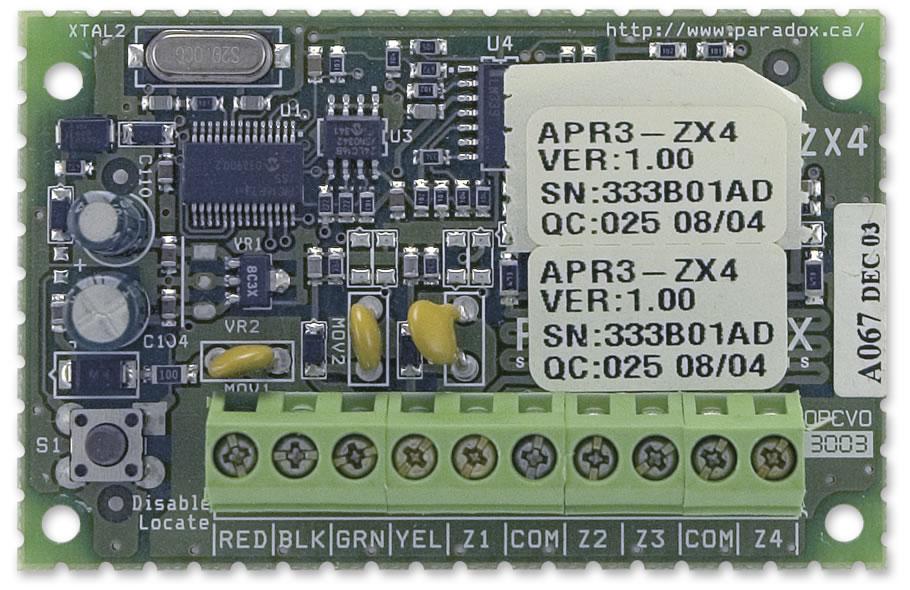 4 zonų išplėtimo modulis PARADOX APR3-ZX4