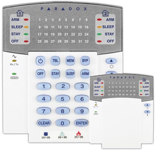 Klaviatūra centralėms PARADOX MAGELLAN K32LED