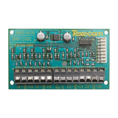 8 zonų vidinis išplėtimo modulis Texecom 8XE
