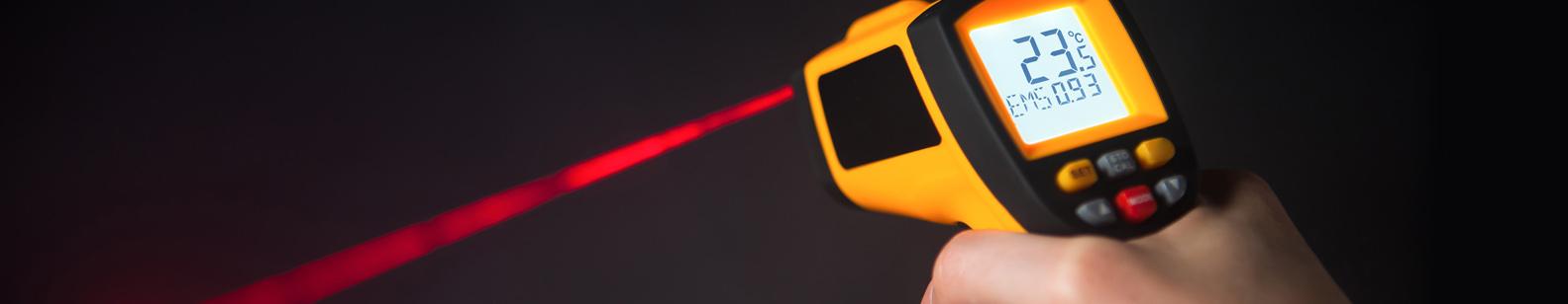 Infraraudonųjų spindulių termometrai  Skirti atlikti nekontaktinius matavimus judantiems ar pavojingiems liesti objektams