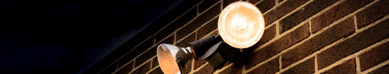 Sensorinis apšvietimas  LED ir halogeninės apšvietimo  lempos su judesio jutikliais