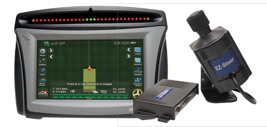 Automatinio vairavimo sistema Trimble EZ-Steer su CFX-750 15-20 cm tikslumu
