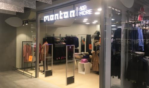 Sumontavome prekių apsaugos vartelius parduotuvėje Monton and More