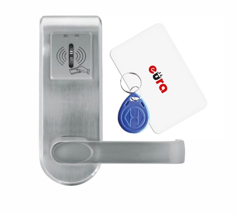 Elektroninė durų spyna su RFID kortelių skaitytuvu ELH-62B9 / sidabrinė (valdymo dalis)