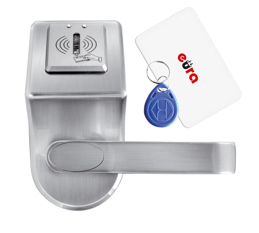 Elektroninė durų spyna su RFID kortelių skaitytuvu ELH-60B9 / sidabrinė (valdymo dalis)
