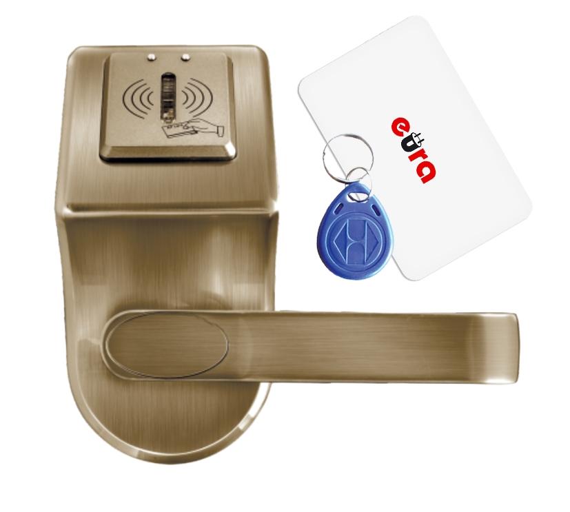 Elektroninė durų spyna su RFID kortelių skaitytuvu ELH-60B9 / ruda (valdymo dalis)