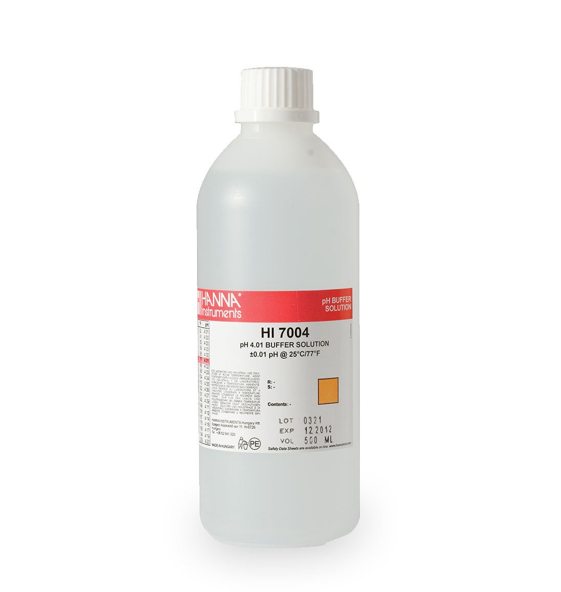pH 4.01 kalibravimo tirpalas HI7004L (500 mL)
