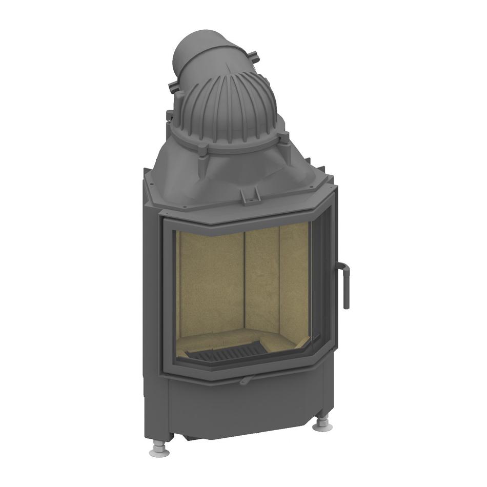 Plieninis židinio ugniakuras SCHMID PANO 5545 S