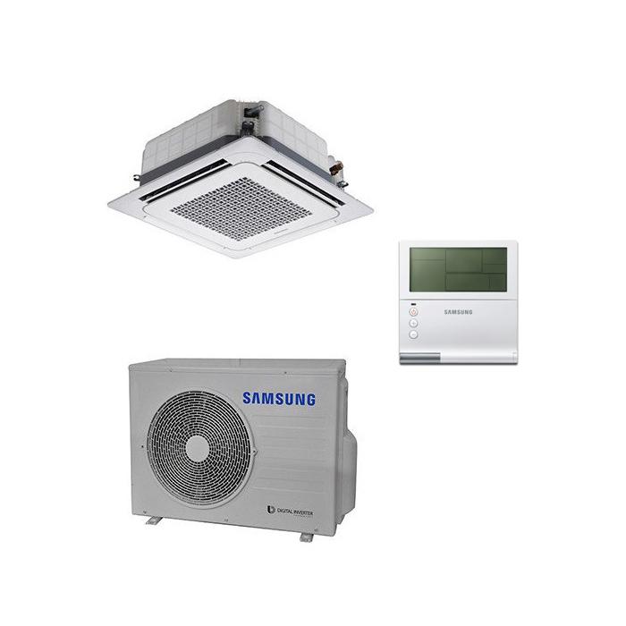 4-krypčių kasetiniai oro kondicionieriai Samsung WIND-FREE (840x840 mm)