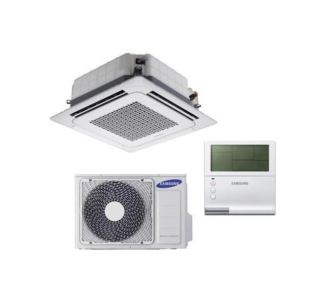 4-krypčių kasetiniai oro kondicionieriai Samsung WIND-FREE (575x575 mm)