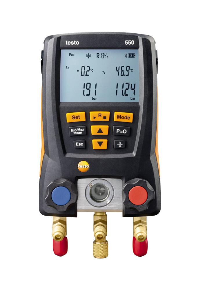 Rinkinys šaldymo sistemų, šilumos siurblių analizei Testo 550