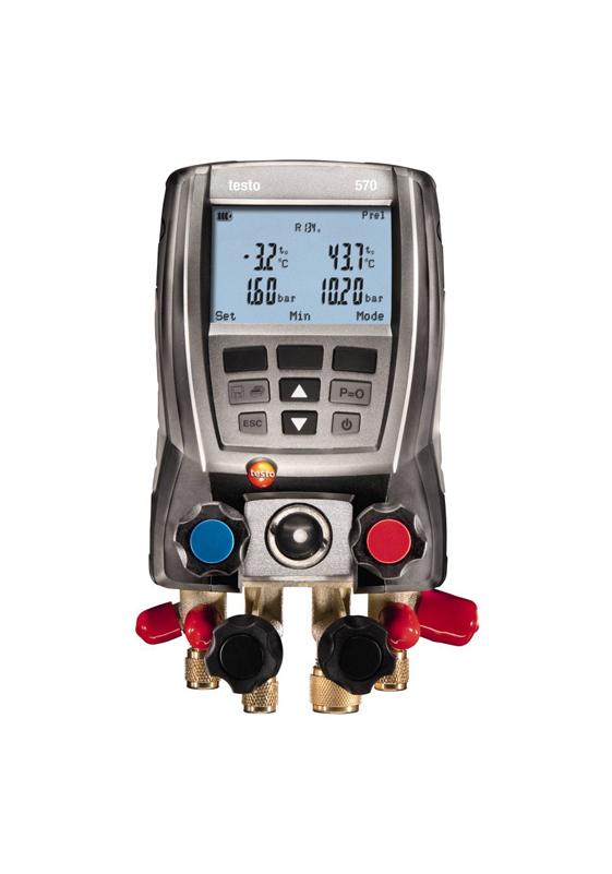 Rinkinys šaldymo sistemų, šilumos siurblių analizei Testo 570-2