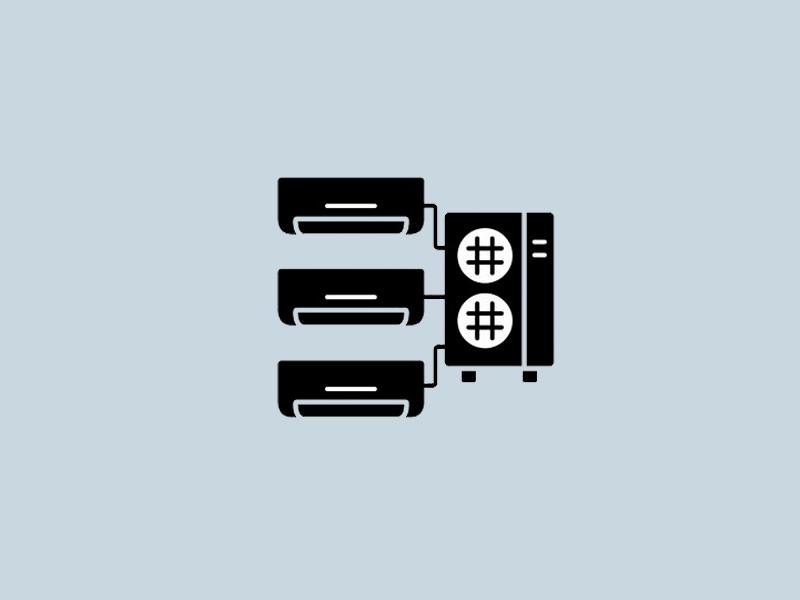 Multi Split sistemos oro kondicionieriai (oras - oras šilumos siurbliai)  Multi Split oro kondicionieriai - sprendimas, kada norima turėti kelis ir daugiau vidinių įrenginių naudojant tik vieną išorinį bloką.  Galime pasiūlyti platų oro kondicionierių pasirinkimą individualiems namams, restoranams, parduotuvėms, biurams ir įvairioms komercinėms patalpoms.