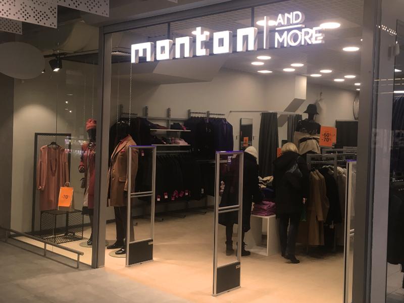 """Parduotuvėje """"Monton and More"""" (esanti Parkas Outlet prekybos centre Vilniuje) sumontavome prekių apsaugos vartelius."""