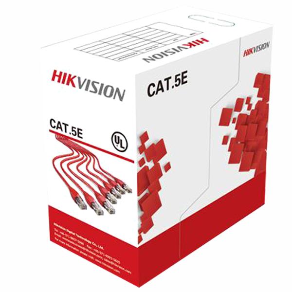 Ryšio kabelis UTP 5E Hikvision DS-1LN5E-E/E (gysla - 0.55 mm, ritė 305 m)